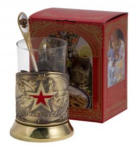 Набор для чая, подстаканник «Армия»