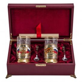Подарочный набор для чая на 2 персоны «Чаепитие» № 19 (ПД-4э и ПД-115э в/з)
