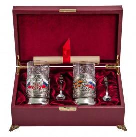Подарочный набор для чая на 2 персоны «Чаепитие» № 18 (ПД-89э и ПД-77э)